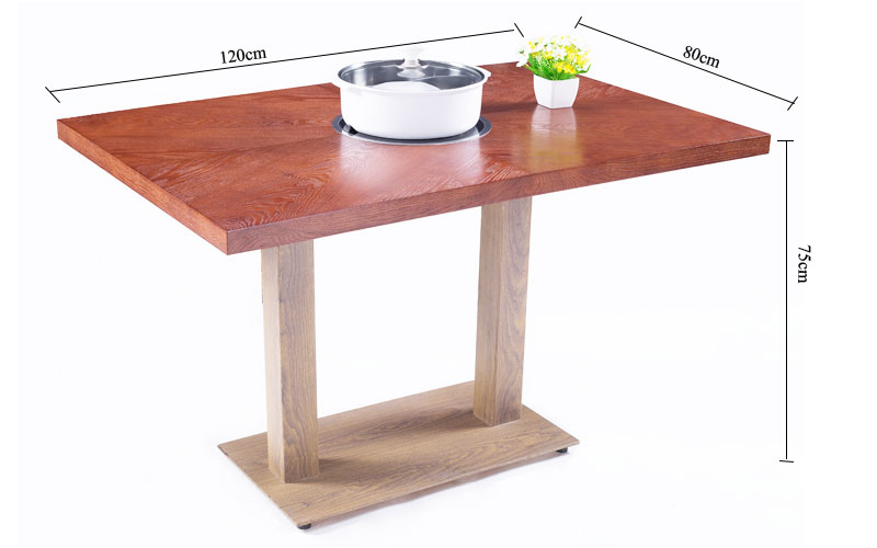 Hot-sale Wooden Tabletop Hot-pot Restaurant Dining Tables' size-CENHOT