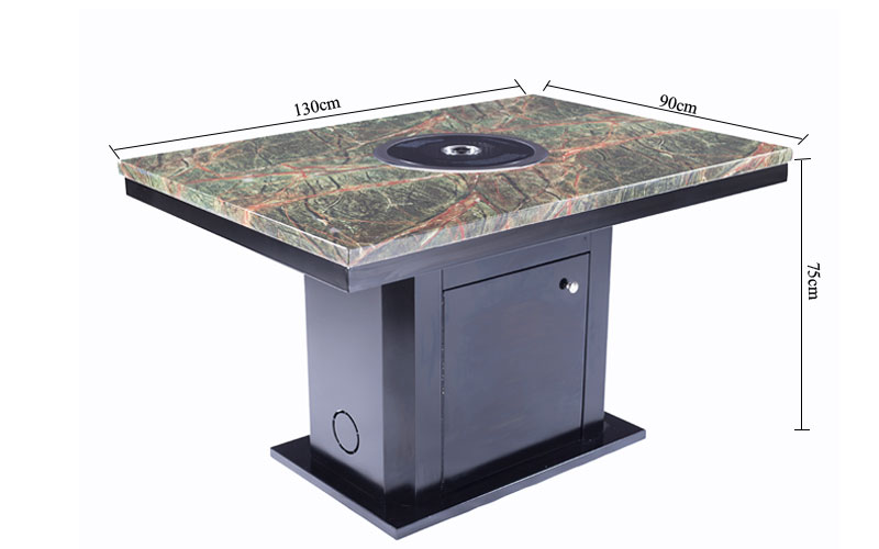 CENHOT Hot Selling Restaurant Korean BBQ Table' s size