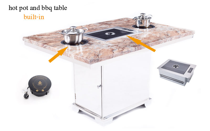 Smokeless Korean Bbq Grill And Hotpot Tables Effect-CENHOT
