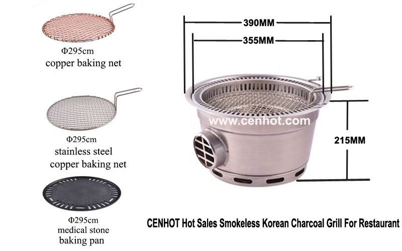 CENHOT-Hot-Sales-Smokeless-Korean-Charcoal-Grill-For-Restaurant - SIZE-CH-B-MT3