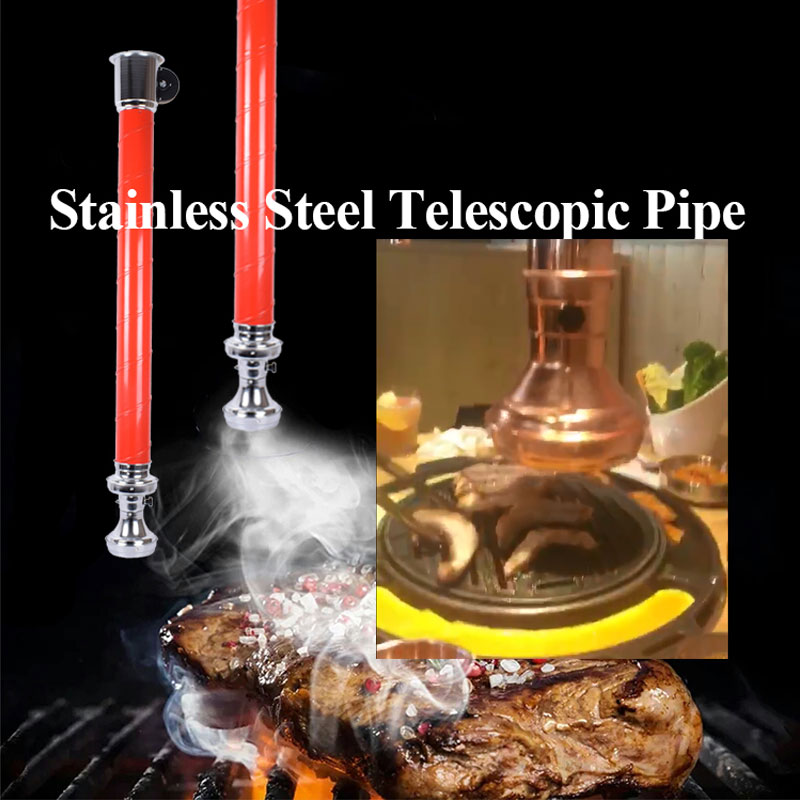CENHOT Hot Sale Stainless Steel Smoke Exhaust Telescopic Pipe For BBQ Restaurant