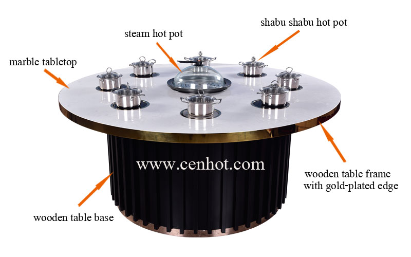 CENHOT Shabu Shabu And Steam Hot Pot Tables structure
