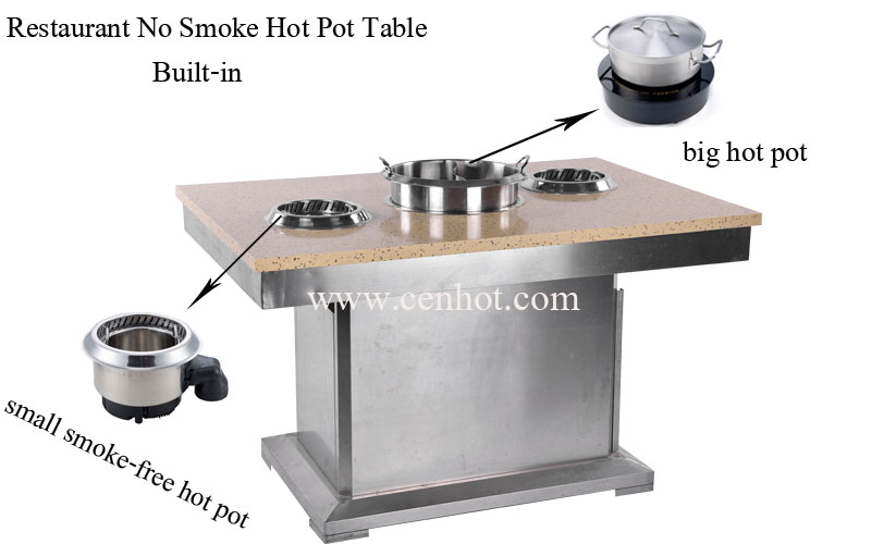 CENHOT Restaurant No Smoke Hot Pot Tables For Sale China effect - CH-T25