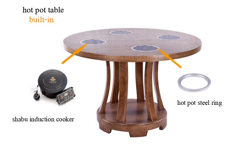 CENHOT Built In Hot Pot Shabu Table For Sale China CH-T23 table effect