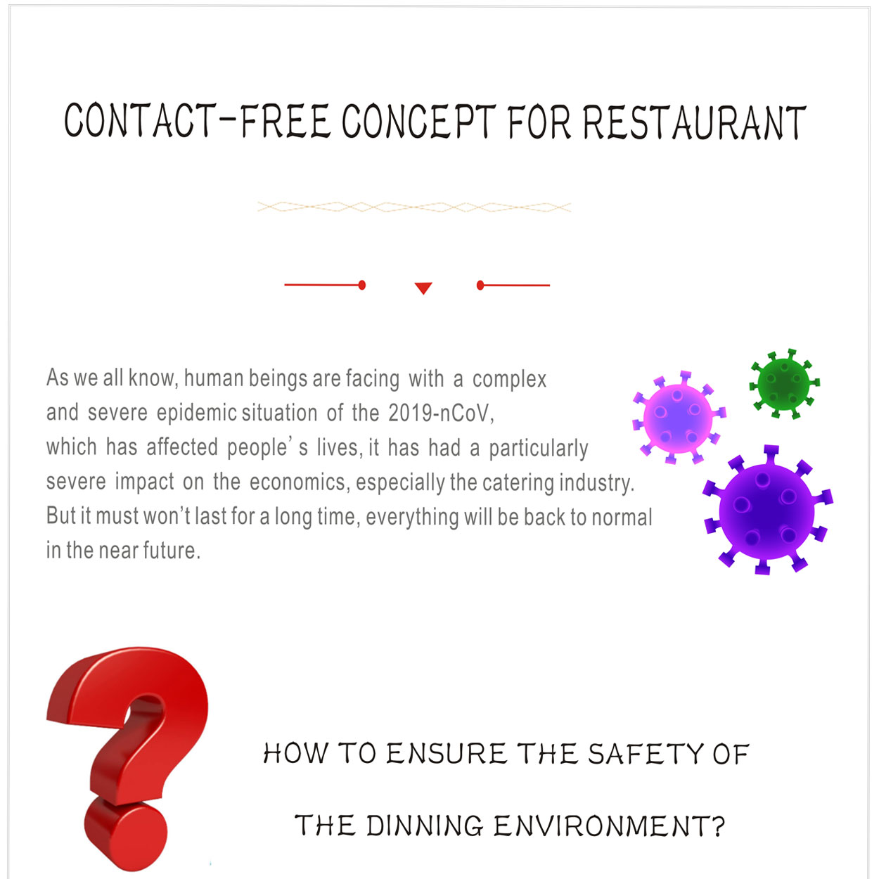 contact-free concept for restaurant --- CENHOT