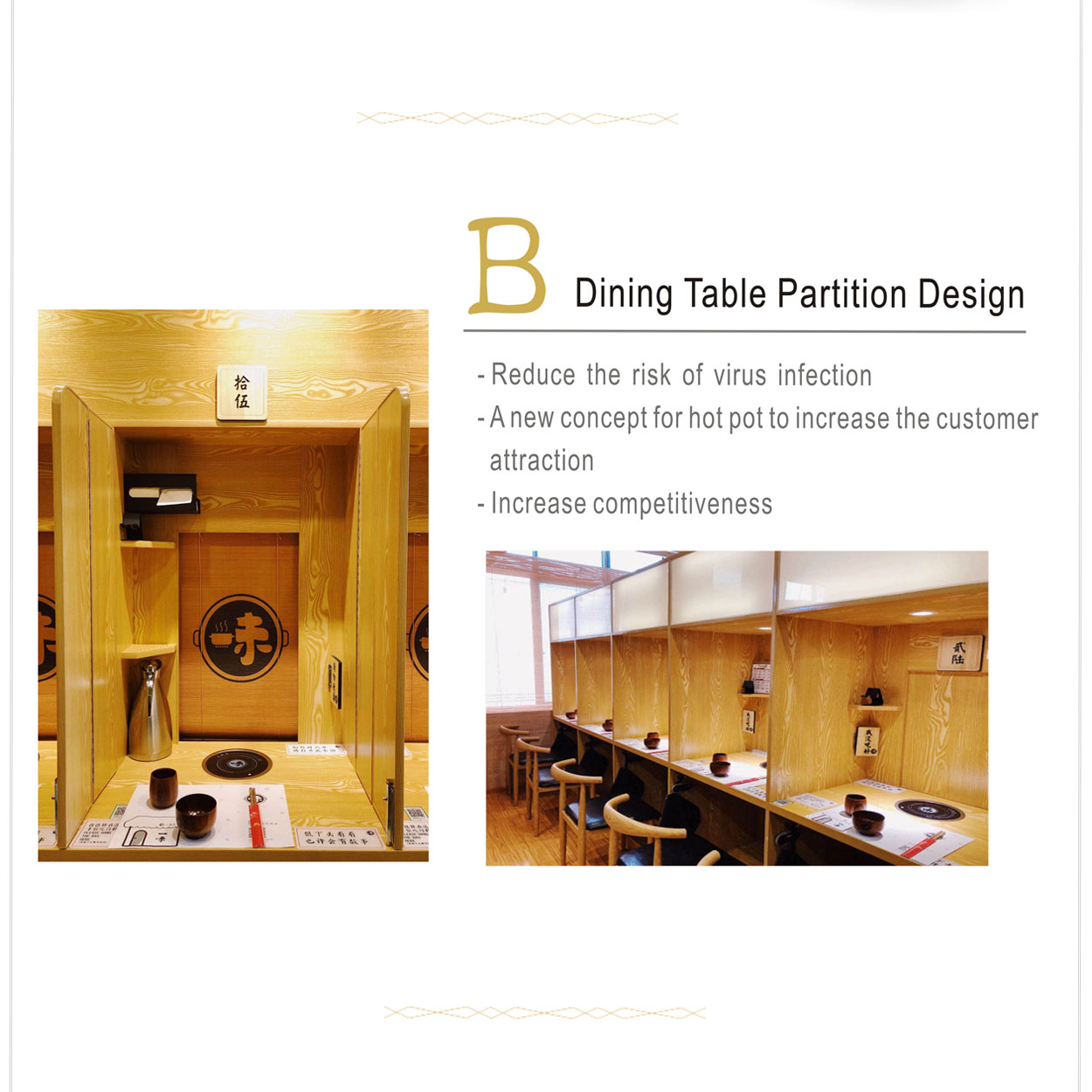 Dining table partition design - CENHOT